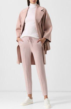 Укороченные кашемировые брюки с лампасами Tse розовые | Фото №1