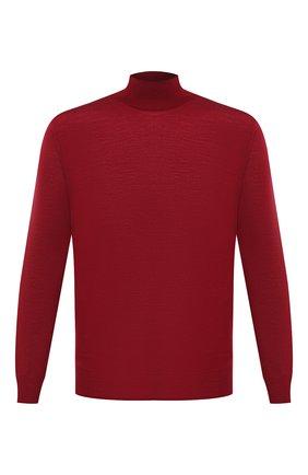Мужской шерстяная водолазка CANALI бордового цвета, арт. C0002/MK00077   Фото 1