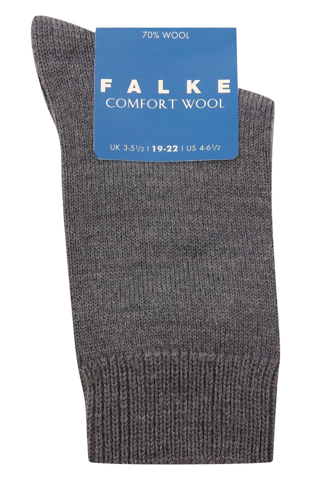 Детские утепленные носки comfort wool FALKE серого цвета, арт. 10488 | Фото 1