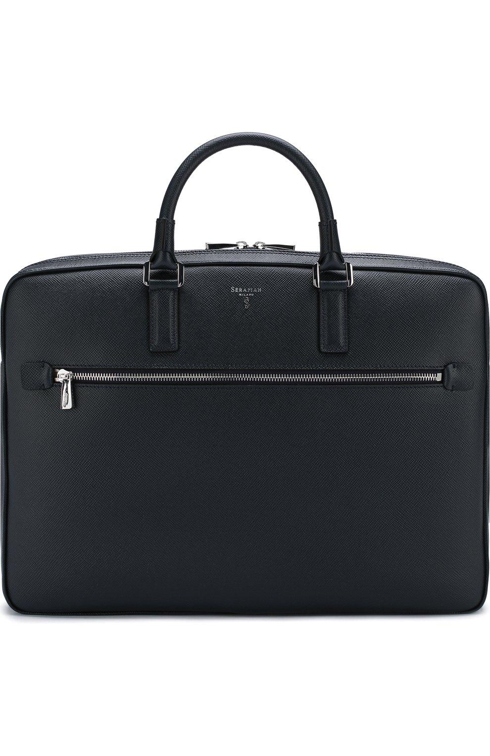 Кожаная сумка для ноутбука Evoluzione с плечевым ремнем   Фото №1