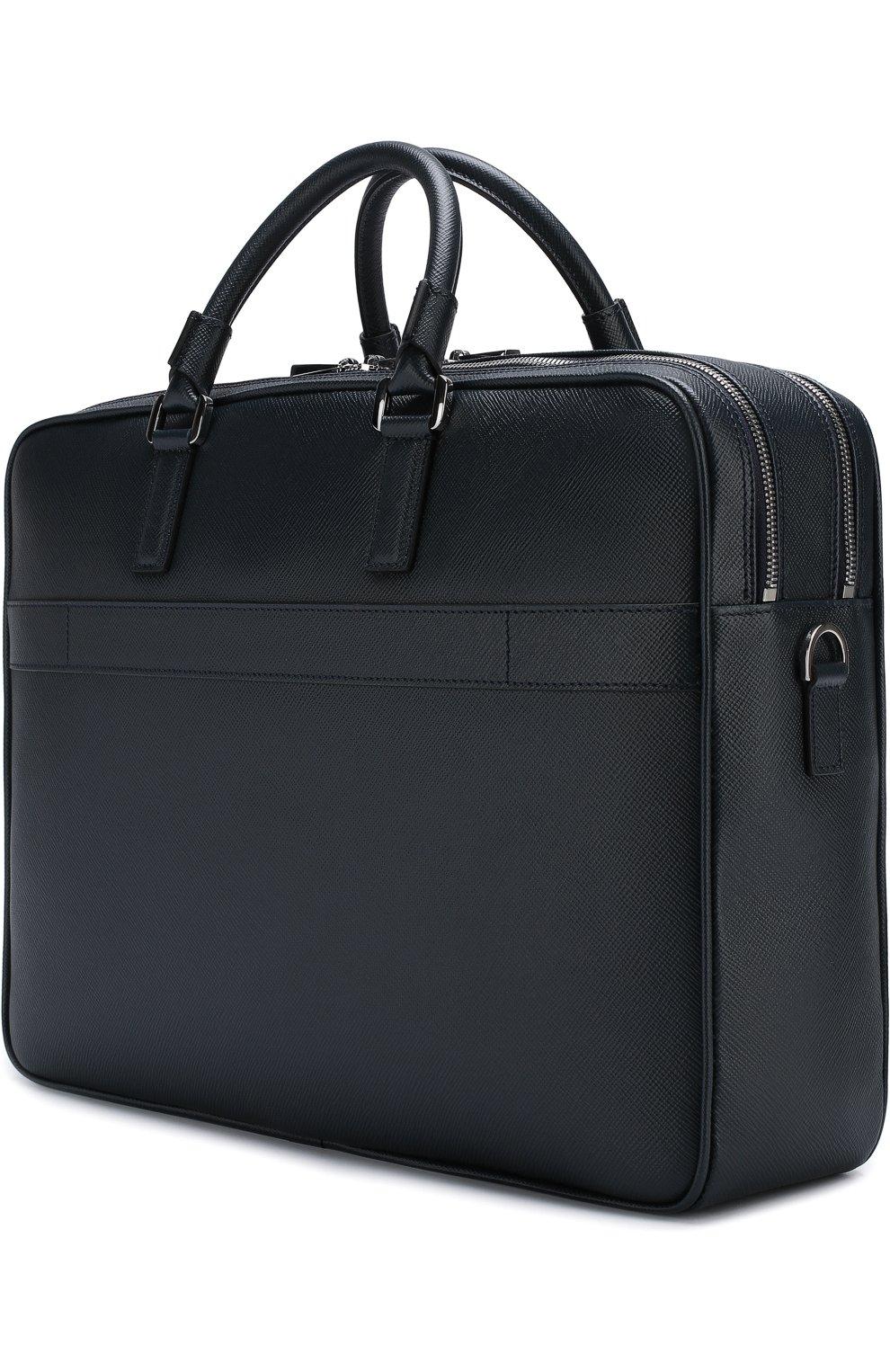 Кожаная сумка для ноутбука Evoluzione с плечевым ремнем   Фото №3