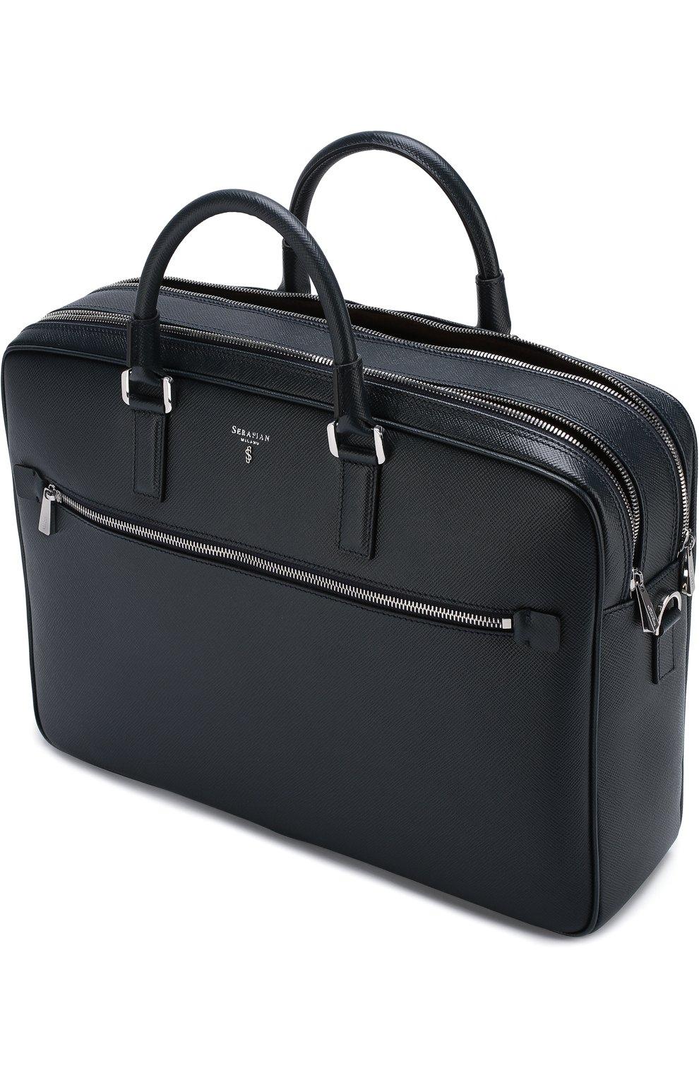 Кожаная сумка для ноутбука Evoluzione с плечевым ремнем   Фото №4
