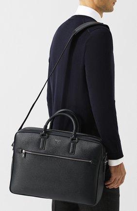Кожаная сумка для ноутбука Evoluzione с плечевым ремнем   Фото №5