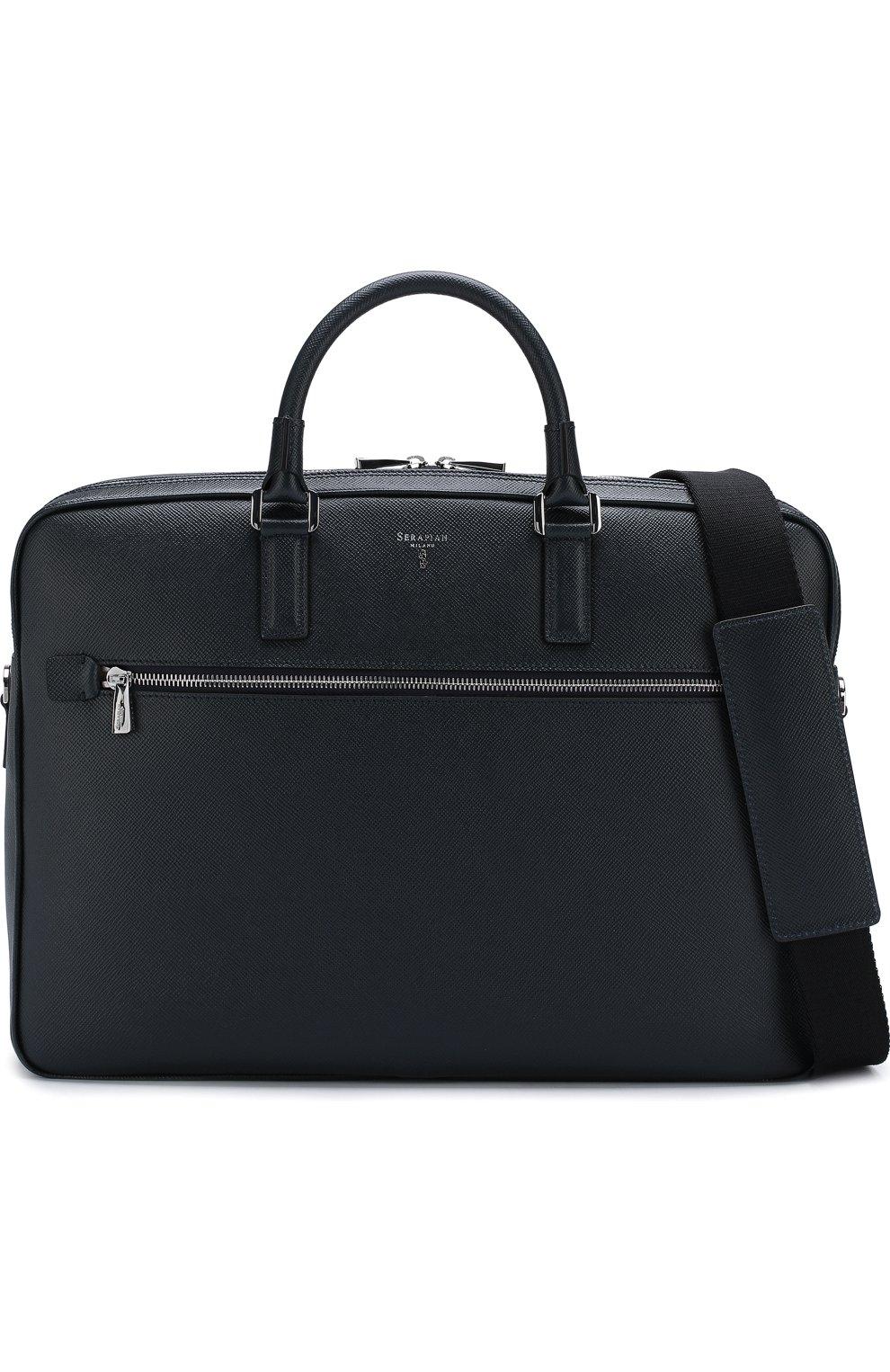 Кожаная сумка для ноутбука Evoluzione с плечевым ремнем   Фото №6