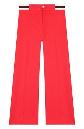 Расклешенные брюки из вискозы с эластичной вставкой на поясе | Фото №1