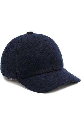 Мужской кашемировая бейсболка FEDELI темно-синего цвета, арт. 1UI00806 | Фото 1