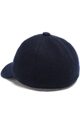 Мужской кашемировая бейсболка FEDELI темно-синего цвета, арт. 1UI00806 | Фото 2