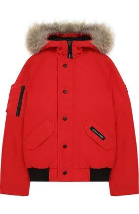 Пуховая куртка Rundle с меховой отделкой на капюшоне | Фото №1