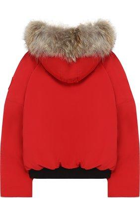 Пуховая куртка Rundle с меховой отделкой на капюшоне | Фото №2