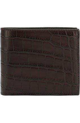 Мужской портмоне из кожи крокодила  BOTTEGA VENETA темно-коричневого цвета, арт. 113993/V9023/CNIL | Фото 1