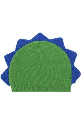 Шерстяная шапка с декором   Фото №1