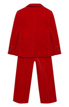 Детский бархатный костюм из пиджака и брюк Il Gufo серого цвета | Фото №1