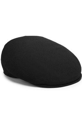 Мужская кепи из смеси шерсти и кашемира KITON черного цвета, арт. UCAPP36/1R64 | Фото 1