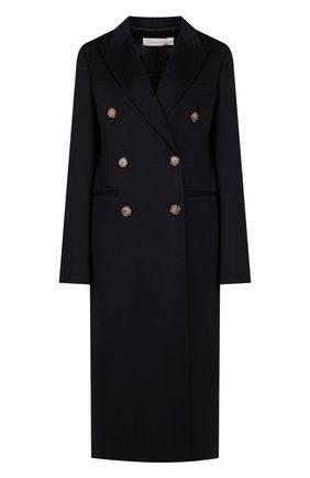 Двубортное кашемировое пальто прямого кроя | Фото №1