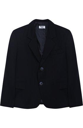 Однотонный пиджак на двух пуговицах | Фото №1