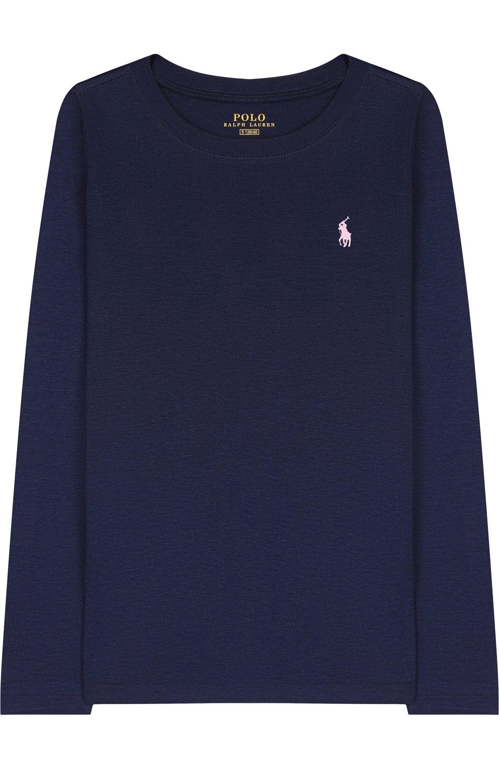 e3e74ed81392 ... Polo Ralph Lauren. Однотонный лонгслив с логотипом бренда   Фото №1