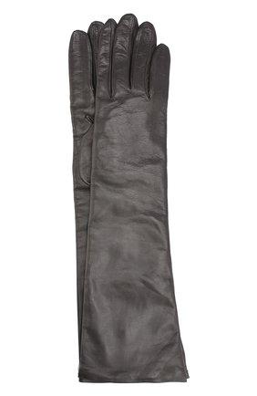 Удлиненные кожаные перчатки | Фото №1