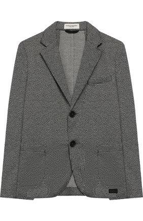 Пиджак джерси на двух пуговицах | Фото №1