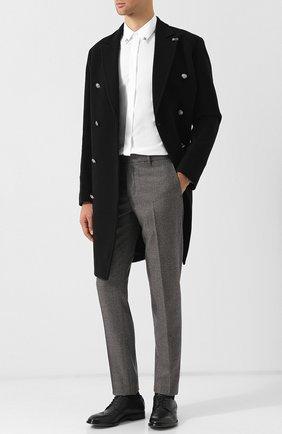 Хлопковая рубашка с воротником button down Just Cavalli белая | Фото №1