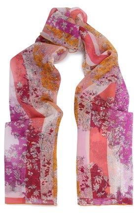 Шелковый палантин с принтом Emilio Pucci светло-розовый | Фото №1