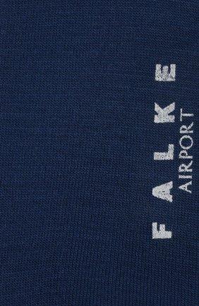 Мужские носки airport из шерсти и хлопка FALKE синего цвета, арт. 14435 | Фото 2