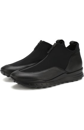 Комбинированные кроссовки без шнуровки на молнии | Фото №1