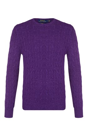 Мужской кашемировый джемпер POLO RALPH LAUREN фиолетового цвета, арт. 710613099 | Фото 1