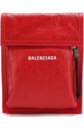 Кожаная сумка Explorer с логотипом бренда | Фото №1
