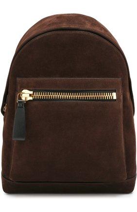 Замшевый рюкзак Buckley с внешним карманом на молнии | Фото №1
