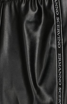Детские леггинсы с лампасами Ermanno Scervino черного цвета   Фото №3