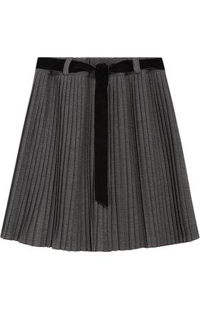 Плиссированная юбка с поясом | Фото №1