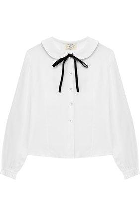 Блуза из вискозы с бантом | Фото №1