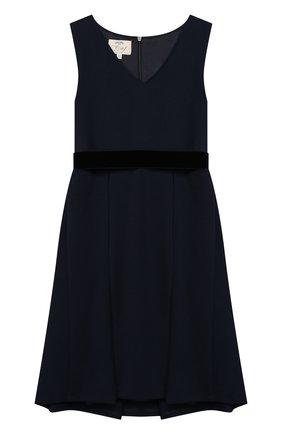 Платье с защипами и поясом | Фото №1