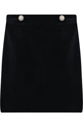 Бархатная юбка с декором | Фото №1