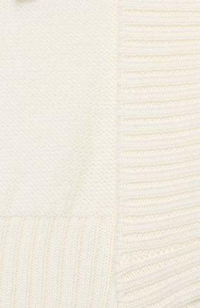 Детское болеро из шерсти Caf белого цвета | Фото №3