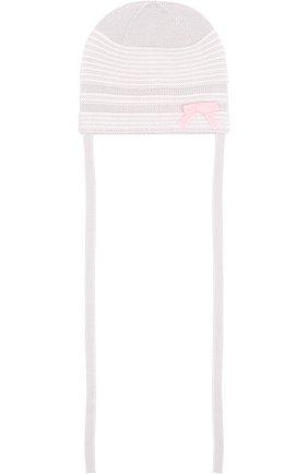 Шерстяная шапка Baby T розового цвета | Фото №1