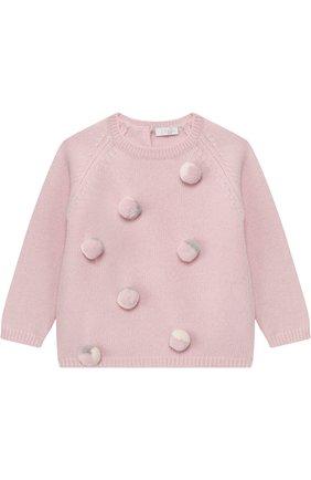 Шерстяной пуловер Il Gufo розового цвета | Фото №1