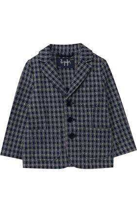Хлопковый пиджак на трех пуговицах | Фото №1