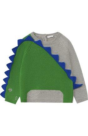 Шерстяной пуловер Il Gufo серого цвета | Фото №1