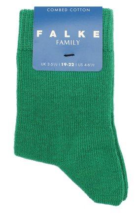 Детские носки из хлопка FALKE зеленого цвета, арт. 10645 | Фото 1