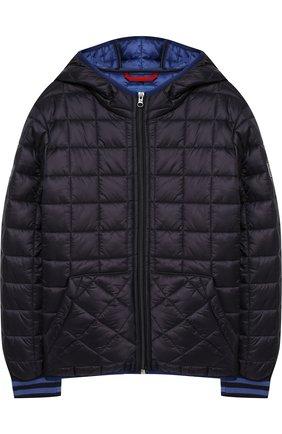 Стеганая куртка на молнии с капюшоном | Фото №1