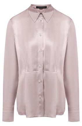 Женская однотонная шелковая блуза Escada, цвет сиреневый, арт. 5027879 в ЦУМ   Фото №1