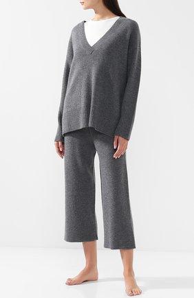 Женские кашемировые брюки LE KASHA серого цвета, арт. INDIA00 | Фото 2