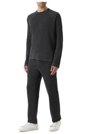 Мужской хлопковый свитшот JAMES PERSE серого цвета, арт. MXA3278 | Фото 2