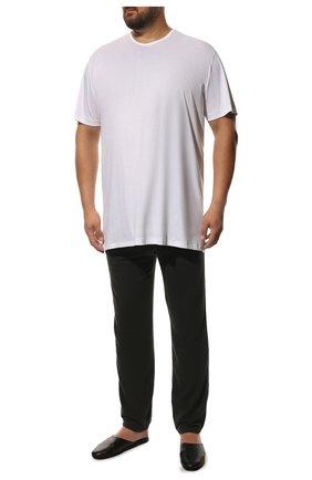 Мужские хлопковые брюки JAMES PERSE серого цвета, арт. MXA1161 | Фото 2