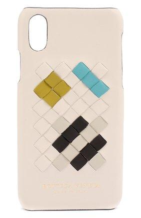 Чехол для iPhone X с плетением intrecciato | Фото №1