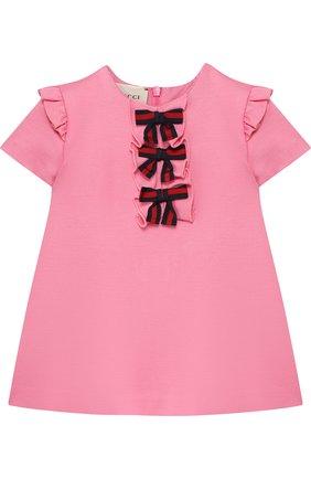 Мини-платье из вискозы с декором | Фото №1