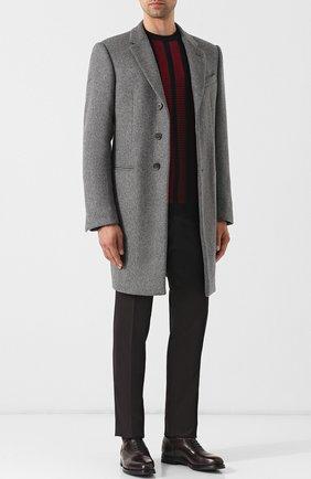 Кожаные оксфорды Liverpool на шнуровке W.Gibbs темно-коричневые | Фото №1