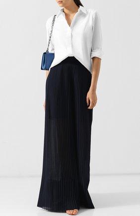 Плиссированные брюки свободного кроя Golden Goose Deluxe Brand темно-синие | Фото №1