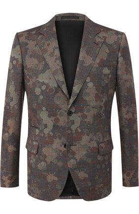 Однобортный пиджак из шерсти   Фото №1